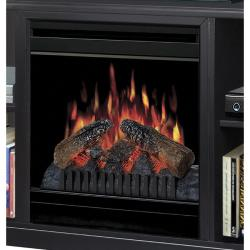Dimplex Cornet Media Console with Electric Flame Fireplace in Black Finish