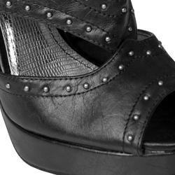 Anne Michelle by Journee Women's 'Obscene-10' Studded Peep Toe Heels - Thumbnail 2