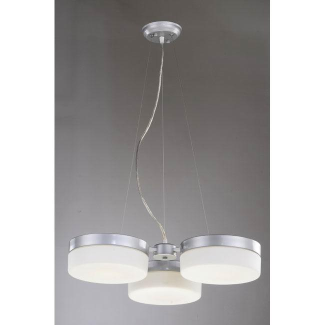 'Casa' 3-light Silver Chandelier