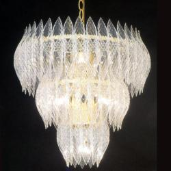 Kerchief 9-light Polished Brass Finish Chandelier