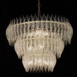 Kerchief 11-light Polished Brass Finish Chandelier