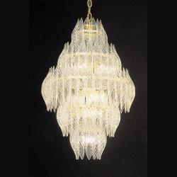 Kerchief 12-light Polished Brass Finish Chandelier