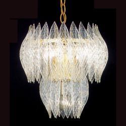 Kerchief 4-light Polished Brass Finish Chandelier - Thumbnail 2
