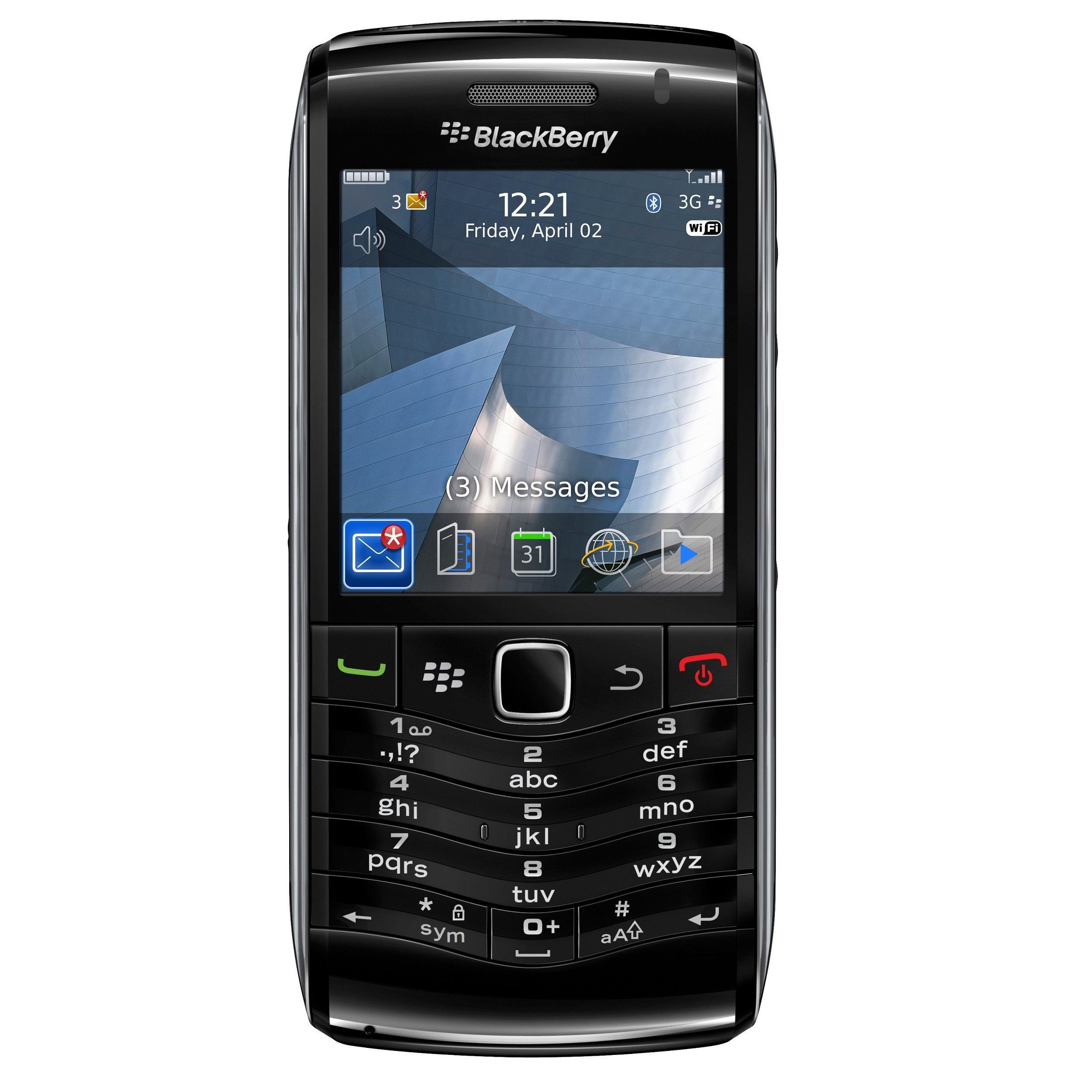 BlackBerry Pearl 3G 9105 Unlocked GSM Black Cell Phone