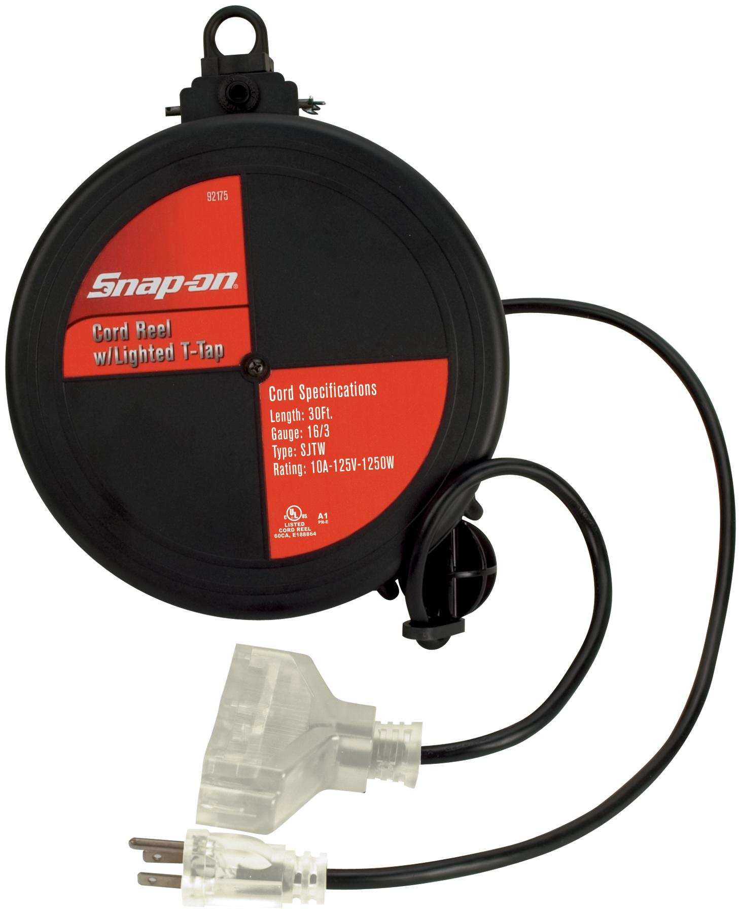 Snap On Cord Reel With Clear Lighted T Tap And Cord Free