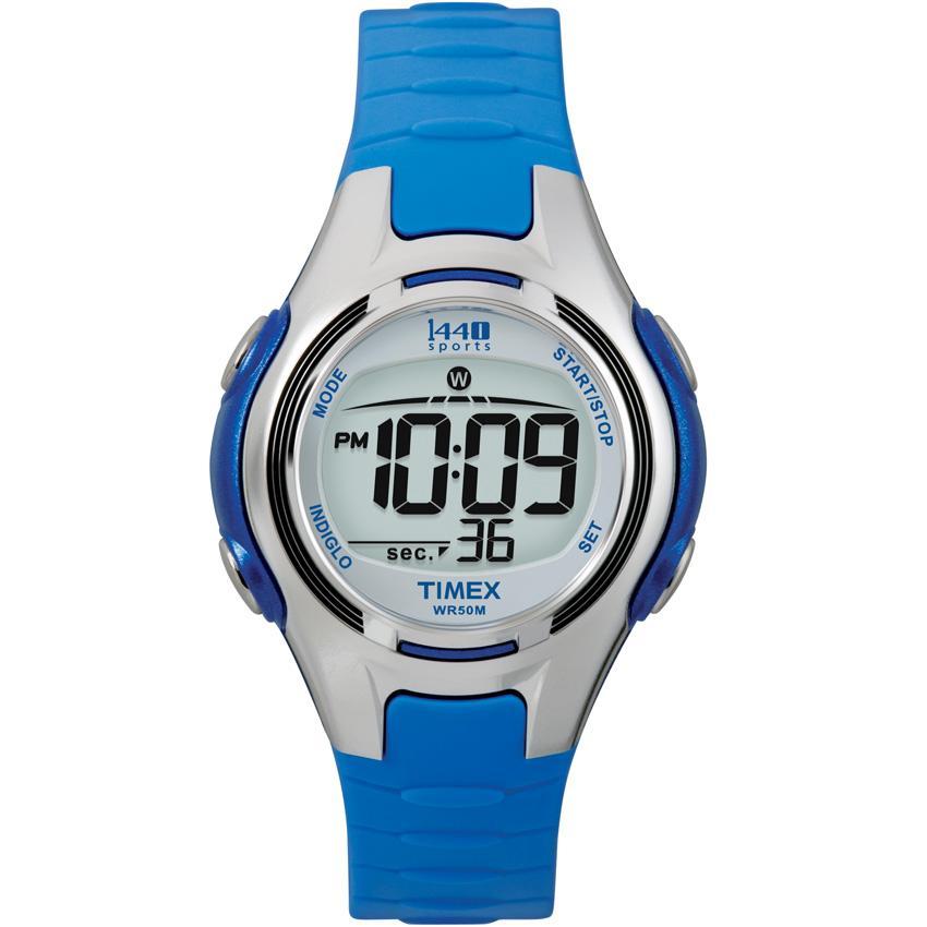 cba5c839c Shop Timex Women's 1440 Blue Resin Digital Sports Watch - Free ...
