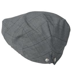 Boston Traveler Men's Adjustable Snap Back Plaid Ivy Cap - Thumbnail 1