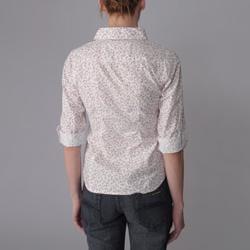 Derek Heart Juniors Cotton Woven Ditzy Print Buttoned Blouse - Thumbnail 1