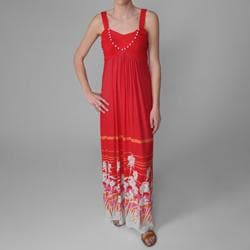Sangria Womens Floral Print Long Maxi Dress