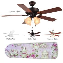 New Image Concepts 4-light Teapot Blade Ceiling Fan