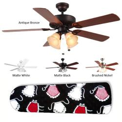 New Image Concepts 4-light 'Kitchen Queen' Blade Ceiling Fan - Thumbnail 1