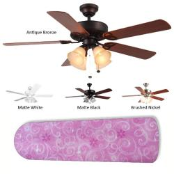 New Image Concepts 4-light Pink Sparkle Princess Blade Ceiling Fan - Thumbnail 1