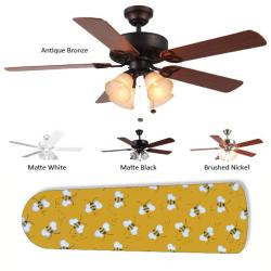 New Image Concepts 4-light 'Buzzin' Bumblebees' Blade Ceiling Fan - Thumbnail 1