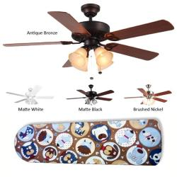 New Image Concepts 4-light Puppy Blade Ceiling Fan - Thumbnail 2