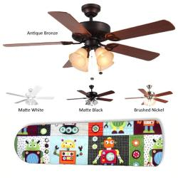 New Image Concepts 4-light Robot Blade Ceiling Fan - Thumbnail 2