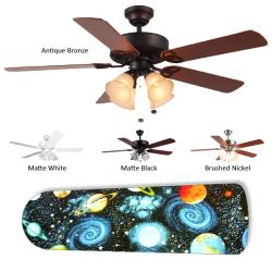 New Image Concepts 4-light Outer Space Blade Ceiling Fan