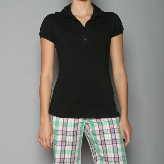 Golftini Women's Black Fashion Top Golf Shirt