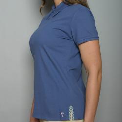 Golftini Women's Blue Zipper Neck Golf Shirt - Thumbnail 1