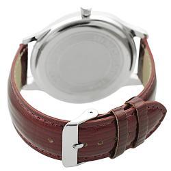 Geneva Platinum Women's Simulated Patent Leather Watch