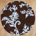 Alliyah Handmade New Zeeland Blend Brown Floral Wool Rug(6' Round)