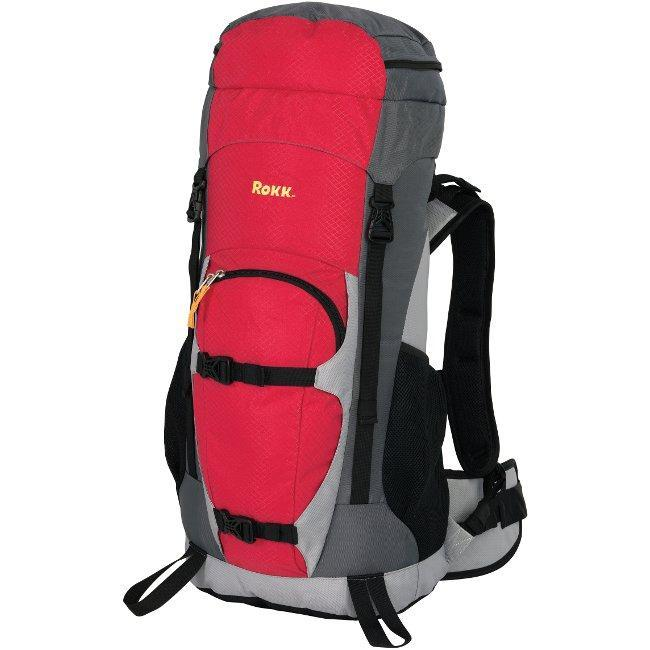 Rokk Large 'Wind River' Red Hiking Backpack - Thumbnail 0