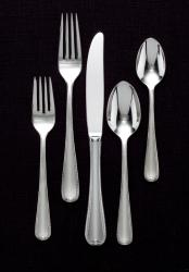 Gorham Ribbon Edge II Frosted 65-piece Flatware Set - Thumbnail 1