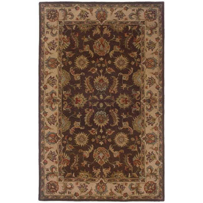 Hand-tufted Brown and Beige Wool Area Rug (8' x 10') - 8' x 10'