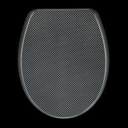 Carbon Fiber Designer Melamine Toilet Seat Cover