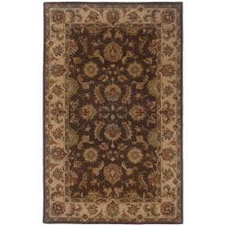 Hand-tufted Brown and Beige Wool Area Rug (8' x 10')