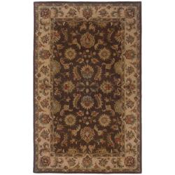 Hand-tufted Brown and Beige Wool Area Rug (5' x 8')