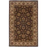 Hand-tufted Brown and Beige Wool Area Rug (5' x 8') - 5' x 8'