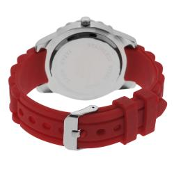 Geneva Platinum Women's Mother of Pearl Silicone Strap Watch - Thumbnail 1