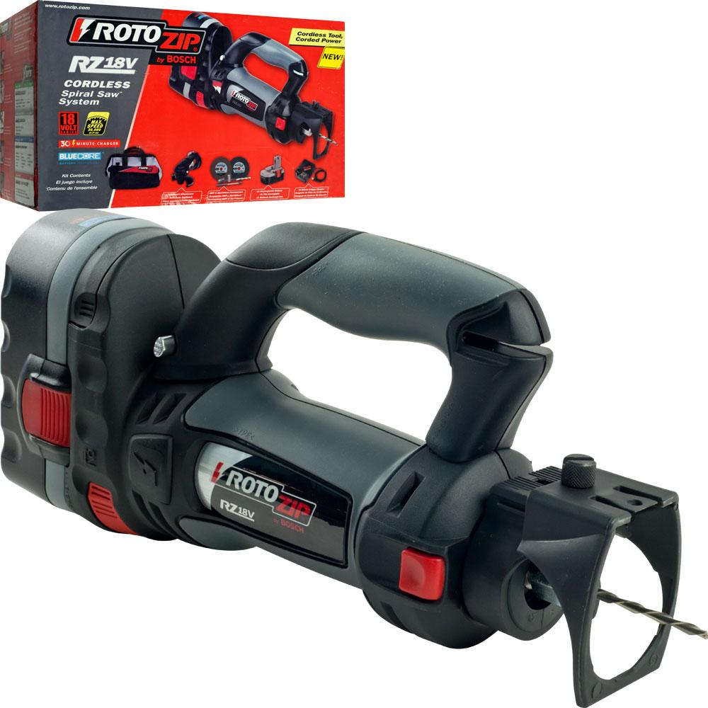 Rotozip SS355-10 5.5 Amp High Speed Spiral Saw System with 2 ...
