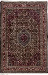 Hand-knotted Mandara Burgundy New Zealand Wool Rug (5'6 x 8'6)