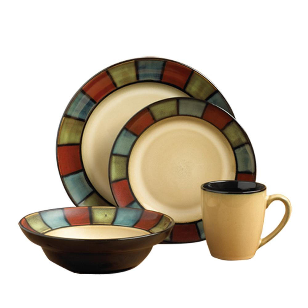 pfaltzgraff colton 16piece dinnerware set