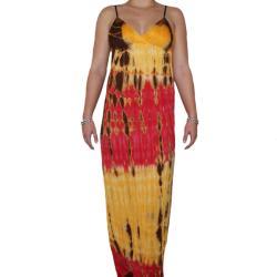 Style Biz USA Women's Spaghetti Strap Tie-dye Maxi Dress