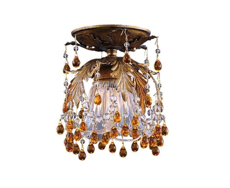 Melrose 1-light Gold Flush Mount Light