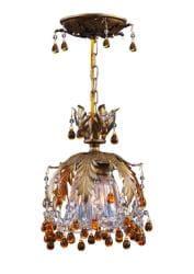 Crystorama Melrose 1-light Gold Semi-flush Light - Thumbnail 1
