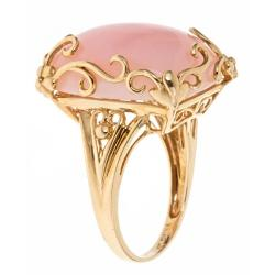 Thumbnail 2, D'Yach 14k Yellow Gold Pink Opal Fashion Ring. Changes active main hero.