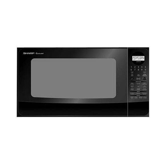 Sharp Countertop Microwave Dimensions : Sharp R420LK Black Family-size 1.4-cubic-foot Countertop Microwave ...