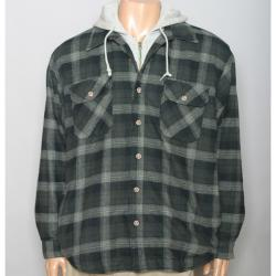Field & Stream Men's Quilted Flannel Hooded Jacket - Thumbnail 1