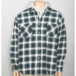 Field & Stream Men's Quilted Flannel Hooded Jacket - Thumbnail 2