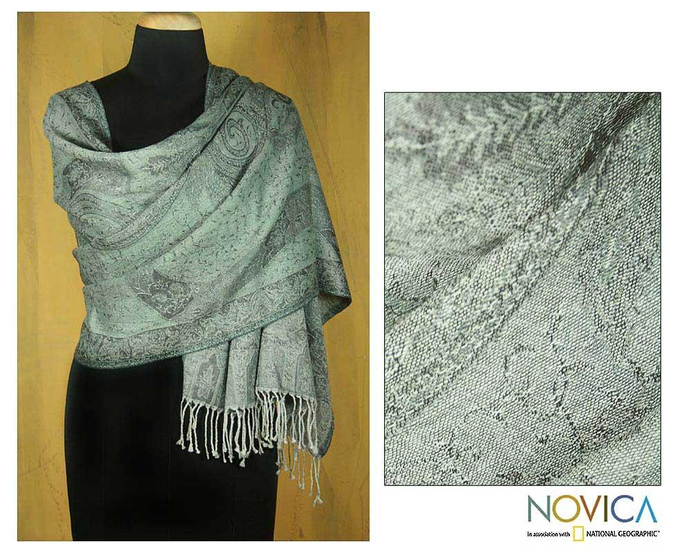 Wool 'Quiet Aura' Shawl (India)