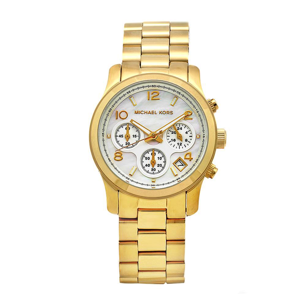 Michael Kors Women's Classic Goldtone Steel Mother of Pearl Dial Watch