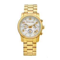 Michael Kors Women's Classic Goldtone Steel Mother of Pearl Dial Watch - Thumbnail 0