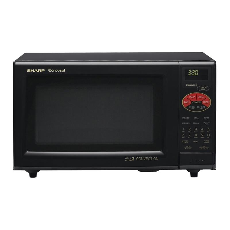 Sharp R820BK Black 900-watt 0.9-cubic-foot Convection Microwave - Free ...