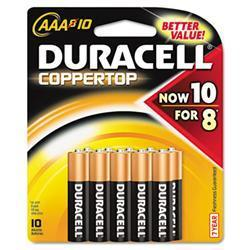 Duracell Coppertop Alkaline Batteries- AAA