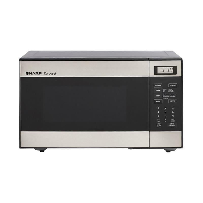 Sharp R216ls Stainless Steel Compact 0 8 Cu Ft Microwave