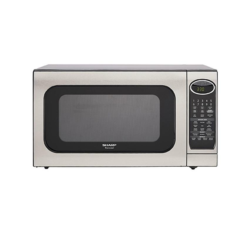 Sharp R520kst Stainless Steel 2 Cu Ft 1200 Watt Microwave