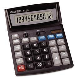 Victor Compact Desktop Calculator- 12-Digit LCD